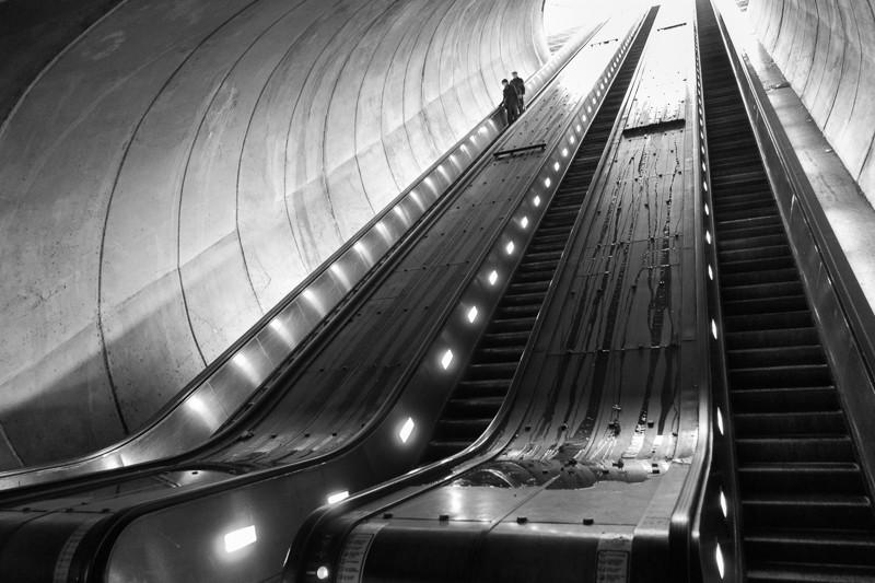 Subway Escalator on a Rainy Day (Wash DC, Dec 2013)