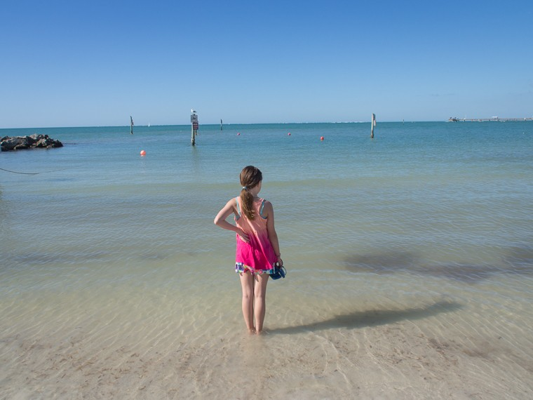 My Daughter Facing the Gulf, Clearwater Beach, FL (Feb 2014)