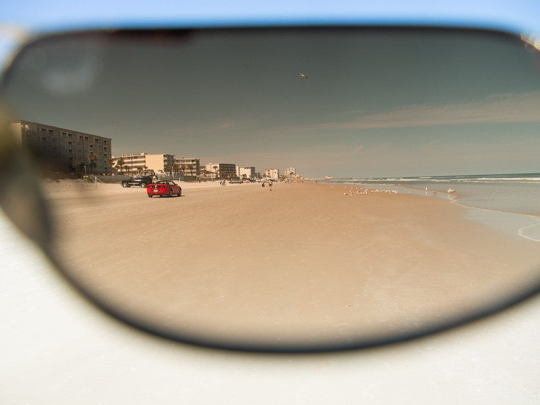 Daytona Beach (Atlantic Ocean) through My Sunglasses (Feb 2014)