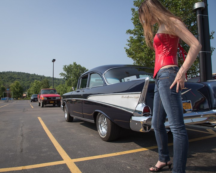57 Chevy with Red Corset (June 2013)