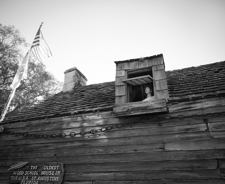 The Oldest Wood School House in the USA, St. Augustine, FL (Feb 2014)